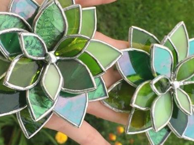 Summer Succulents Stained Glass